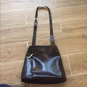 Longchamp Handbags - VINTAGE leather Longchamp Crossbody Brown Bag