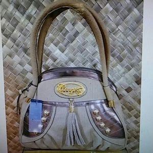 Coogi extra large studded hobo handbag.