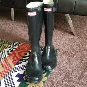 Authentic black Hunter Boots