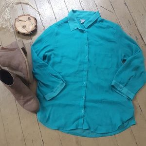aerie Tops - Turquoise blouse