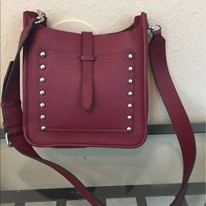 Rebecca Minkoff Handbags - Rebecca Minkoff burgundy studded satchel crossbody