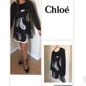 Chloe Dresses & Skirts - SALE Today! Stunning Chloe Silk Dress 4 or 38 EUC