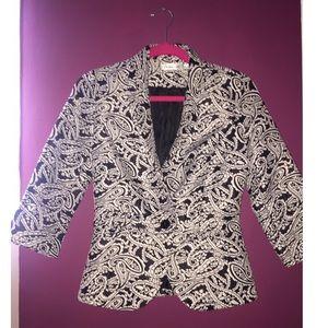 ModCloth Jackets & Blazers - MODCLOTH PATTERN BLACK AND WHITE BLAZER