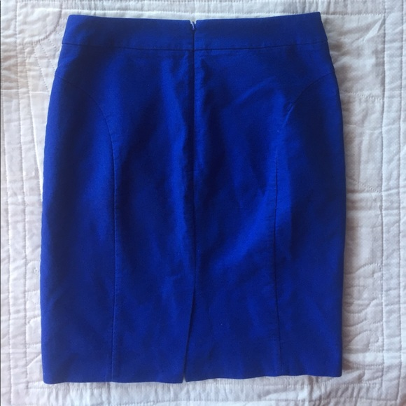 j crew pencil skirt j crew 6 cobalt blue from