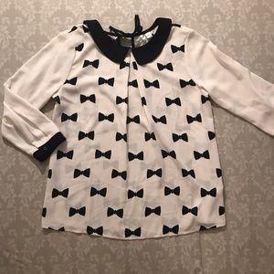 Lauren Conrad bow print blouse.