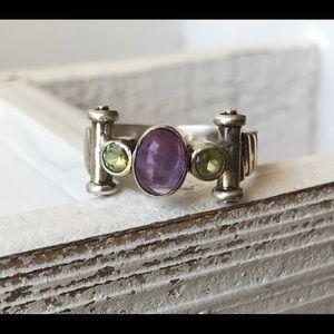 Jewelry - Vintage Sterling 925 amethyst & citrine ring 8
