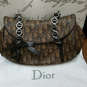 Vintage Christian Dior Handbag with matching walle