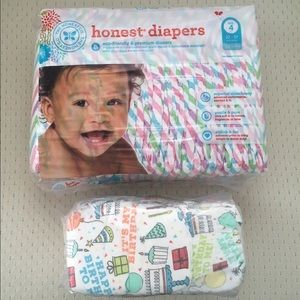 The Honest Company Other - Honest Size 4 Chevron Diapers + Birthday Diapers