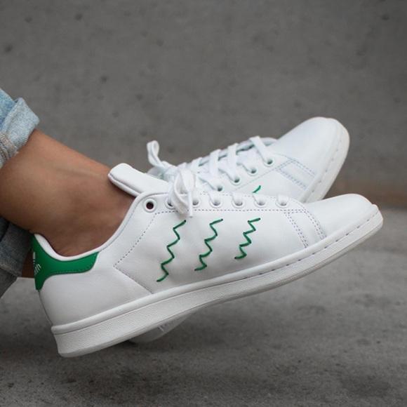 adidas Shoes - Adidas Stan Smith Zig Zag white green 00d94c3dc