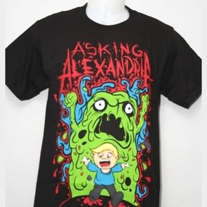 Hot Topic Tops - Asking Alexandria Band Tee