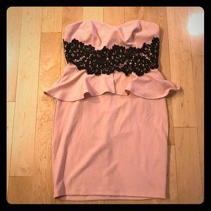 Fashion to Figure Dresses & Skirts - Fashion to Figure  pink black lace dress sz 1X