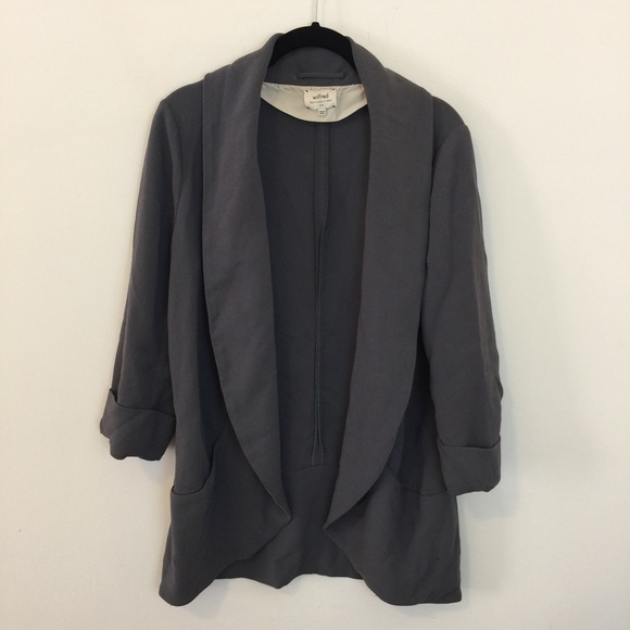 Aritzia Wilfred Aritzia Grey Open Blazer Jacket From