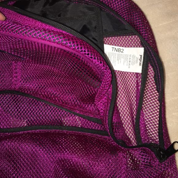 Gym Bag Jansport: JanSport Purple Mesh Backpack
