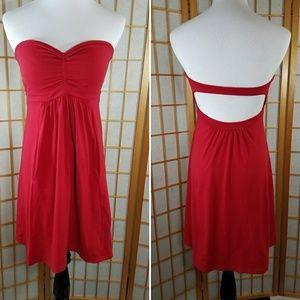 Susana Monaco Dresses & Skirts - Susana Monaco red strapless dress