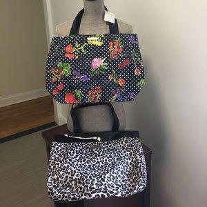 Oscar de la Renta Handbags - 2 TOTES FLORAL oscar de renta & LEOPARD snookie!