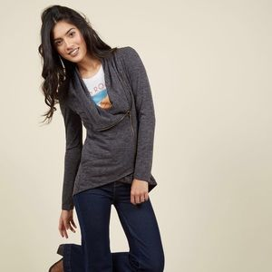 ModCloth Sweaters - 🆕 {Modcloth} • airport greeting charcoal cardigan