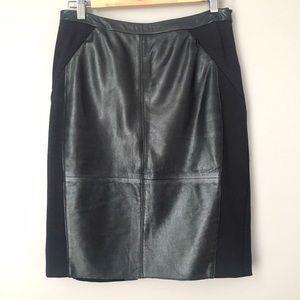 Halogen Dresses & Skirts - Halogen Black Leather Panel Pencil Skirt