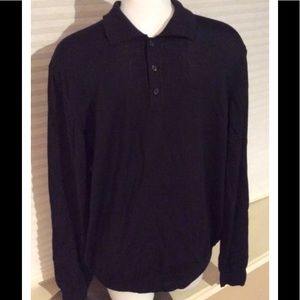 Black Brown 1826 Other - Black Brown 1826 Long Sleeve Polo Wool Sweater LG