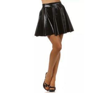 Dresses & Skirts - ❤️ Shiny Faux Leather Circle Skater Mini Skirt