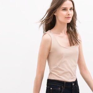 Zara Tops - NWT Zara Women Blush Pink T-Shirt / Tank Small