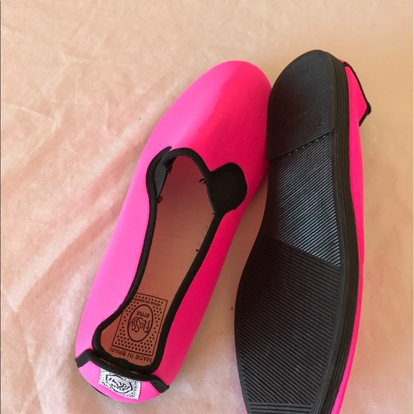 70 flossy shoes flossy neon pink flats size40 9