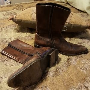 To Boot Other - Mens leather Zip up boots