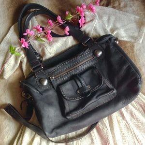 Carla Mancini Handbags - Carla Mancini Large Hand Stitched Leather Satchel