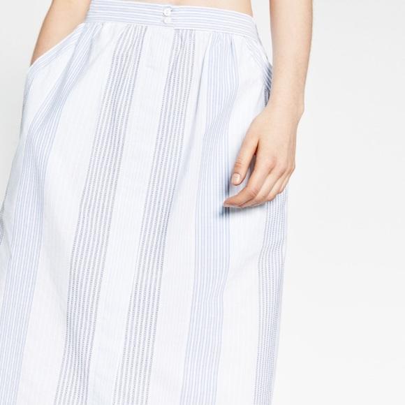 41 zara dresses skirts zara midi striped button