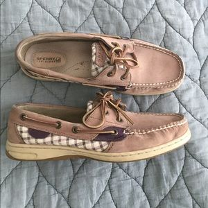 Sperry Top Sider Boat Shoes Purple Size 9