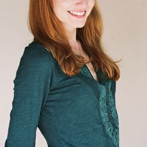 Anthropologie Tops - Anthro top by Meadow Rue: Adorable lace detail!