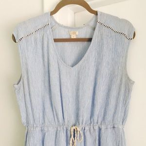 Seersucker Summer Dress Cover Up