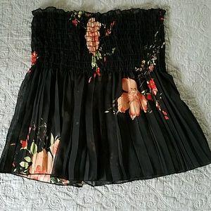 KToo BoHo Black Floral Top