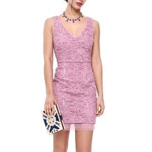 BCBG lilac v neck floral dress