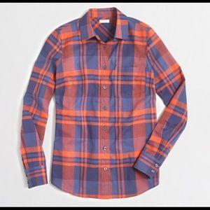 J. Crew Tops - J. Crew Plaid Button Down Long Sleeve Shirt SZ S