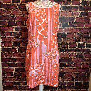 Euc size 16 Lily Pulitzer giraffe shift dress.