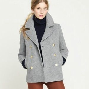 NWOT J. Crew Stadium Cloth Peacoat