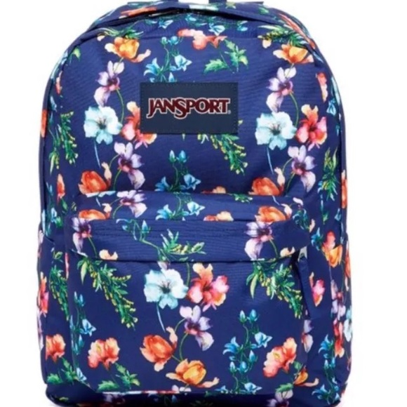 556577c72ca NWT Jansport mountain meadow floral navy backpack
