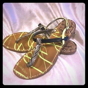 Sam & Libby Shoes - Sam and Libby Snakeskin Print Thong sandals 10