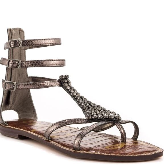 fe5cf09fb66 Sam Edelman Ginger sandals. Pewter
