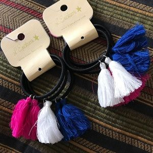 France Luxe Accessories - Just In🦋 France Luxe Hair ties & tassels•set of 3