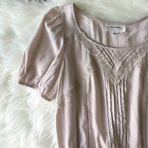 Jill Stuart Tops - NWOT Jill Stuart Romantic Pink Crochet Blouse