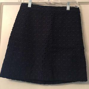 J. Crew Dresses & Skirts - J Crew navy eyelet skirt size 00