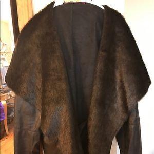 Inspire Jackets & Blazers - Plus size fur leather jacket