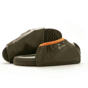 Aigle Shoes - Aigle Women's Rubber Pack Rain Boots Green/Orange