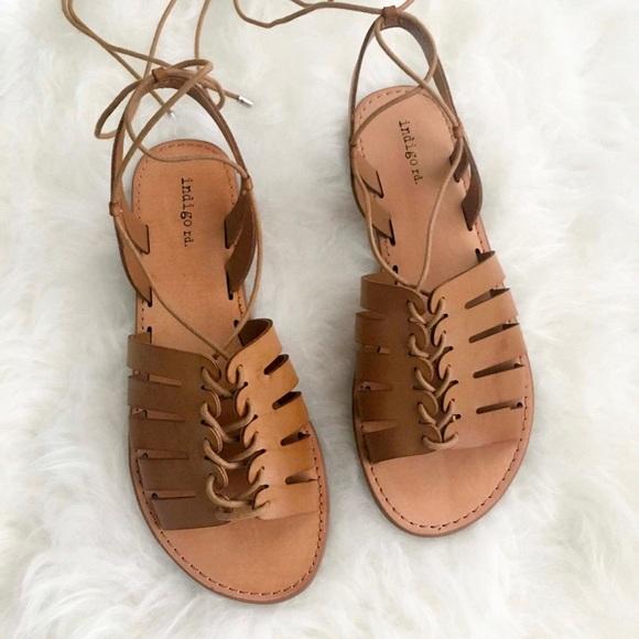 7fbb9426bf343f nwt  indigo road • baku lace-up sandals