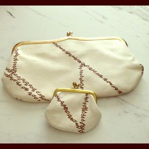 Vintage clutch and coin purse set from Germany