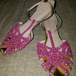 Link Other - Pink & Gold Open Toe Sandals