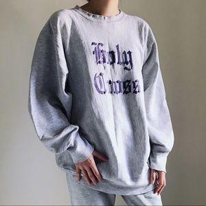 Champion Other - Champion Holy Cross Sweatshirt In Purple & Gray.