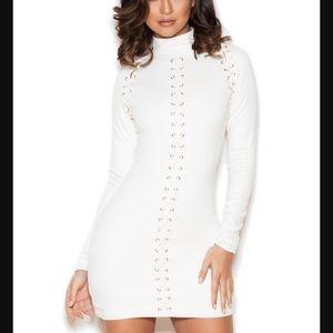 House of CB Dresses & Skirts - House of CB White Tallisa Suedette Dress - S