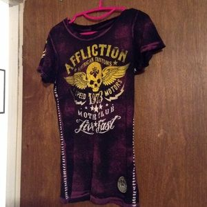 Sinful Tops - Affliction American Customs Shirt Size Medium